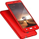 Johra High Quality Full Body Front & Back 360 Protective Red Body Case Cover For Nokia 3 - Nokia 3 Back Cover
