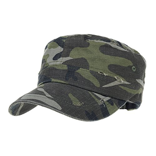 withmoons-militaire-casquette-de-baseball-cadet-cap-camouflage-twill-cotton-distressed-washed-hat-kr