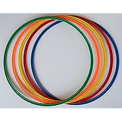Agility Hundesport - 5er Set Ringe / Reifen - 5 Farben - Durchmesser: 70 cm