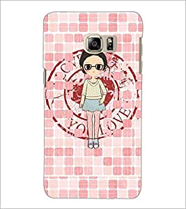 PrintDhaba Girl with spectacles D-4065 Back Case Cover for SAMSUNG GALAXY NOTE 5 EDGE (Multi-Coloured)