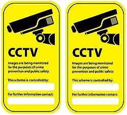 Warning Camera Surveillance GDPR Video Vinyl Sticker Label CCTV Safety Security Anti Theft 2x