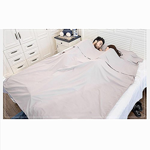 MIAO Home Cotton Portable Travel Hotel Anti Dirty Thin section Doppel Schlafsack , (Mit Onesies Und Fuß Haube)