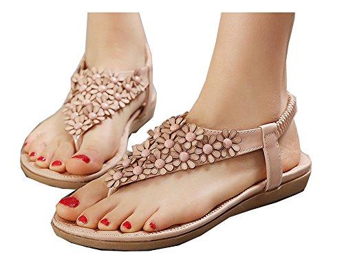 Da donna Scarpe sandalo flip-flop Di fiori Stili Boemia Rosa