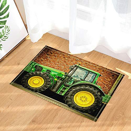 Aliyz Moderne mechanische Traktor künstler mit hotelzimmer tür bodenmatte Bad Schlafzimmer küche Wohnzimmer kinderteppich rutschfeste Material Flanell 40x60cm -