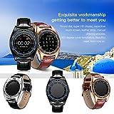 Fitness Tracker, TQ920(GSM, SIM) Wasserdicht Bluetooth Smart Watch Phone Herzfrequenz Schrittzähler Blutdruckmessgerät, Activity Tracker, Anrufe, Nachricht Push, BT Musik, Antiverlust für Android, gold