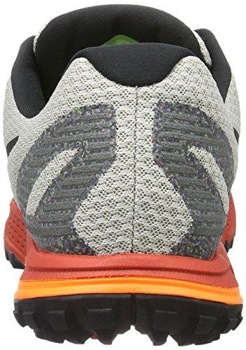 Nike Herren Air Zoom Wildhorse 3 Laufschuhe Grau (Light Iron Ore/Rot Reef/Total Orange/Schwarz)