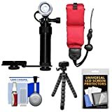 Intova Underwater LED Action Video Light with Camera Bracket Mount with Floating Strap