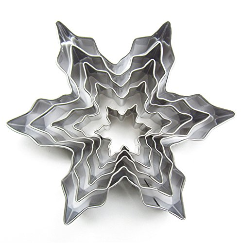 Schokoladen-liebhaber-serie (Haodou 5pcs Snowflake Cutter Cookies Stainless Steel Fondant Cake Pastry Mould Biscuit Icing Sugarcraft Mold DIY Baking Tool)