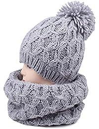 Mhxzkhl Ensemble d hiver Bonnet Écharpe,Tricotés Chaud Bonnet Écharpe  Femmes,Parfait Le 35c11d22140