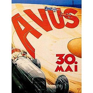 Wee Blue Coo Sport Motor Avus Berlin Germany Vintage Art Print Poster Wall Decor 12X16 Inch