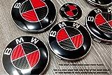 Rot & Schwarz Carbon Faser Badge Emblem Overlay