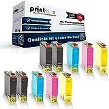 10x Kompatible Tintenpatronen für Epson Stylus SX435W SX438W SX440W SX445W T1281 T1282 T1283 T1284-4x Black 2x Cyan 2x Magenta 2x Yellow