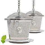 Premium Edelstahl Teesieb | hochwertiges Teeei & Teefilter | Teekugel für losen Tee | feinster Teegenuss incl. edlem Velours-Beutel zur Aufbewahrung von wellvary - der freundliche Koala