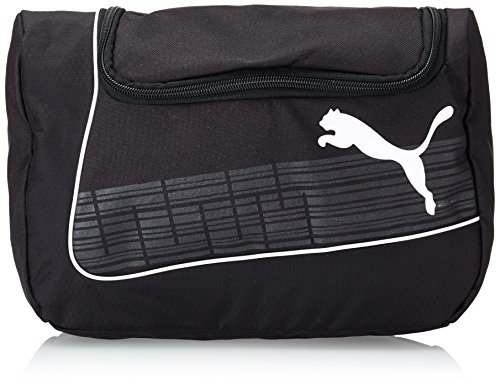 PUMA Kulturbeutel evoPOWER Wash Bag black-White, 32.5 x 22 x 4 cm
