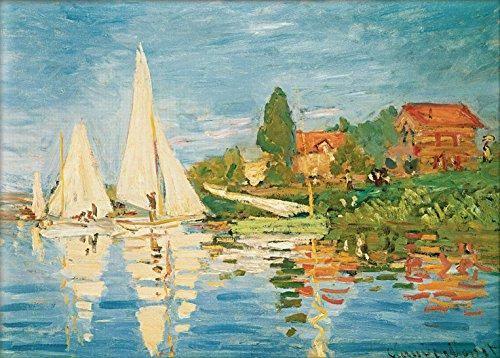 Kunstdruck auf Leinwand. Regatta bei Argenteuil. Bild von Claude Monet - Claude Monet-regatta Bei Argenteuil