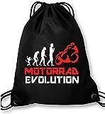 EZYshirt Motorrad Evolution Turnbeutel