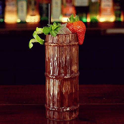 Hauteur bûches Tiki Mug 12.3oz/350 ml – Cocktail Hawaïen En Céramique Tasse
