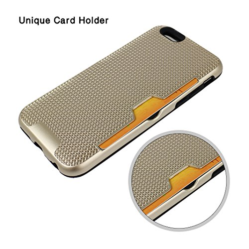iPhone 6S Plus Hartschale, iPhone 6 Plus Hartschale, iPhone 6S Plus Full Body Case, iPhone 6 Plus 3 in 1 Hülle, Moon mood® 3 in 1 Anti-Fingerprint Kratzfeste Kunststoff Harte Rückseite Case Bumper Sch A Gold