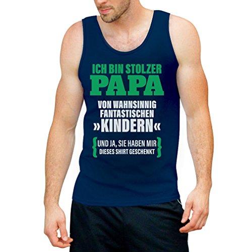 Geschenk für Vater - Ich bin Stolzer Papa von Fantastischen Kindern Tank Top Blau