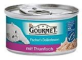 Gourmet Fischer's Delikatessen Katzenfutter Thunfisch, 12er Pack (12 x 85 g) Dosen