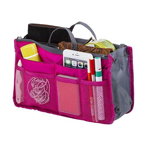 Make-Up-Organisator-Beutel-Perfector Insert Travel Organizer Zipper-Halter-Handtasche rose