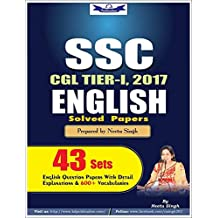 SSC CGL-1,2017 ENGLISH SOLVED PAPER 43 SETS
