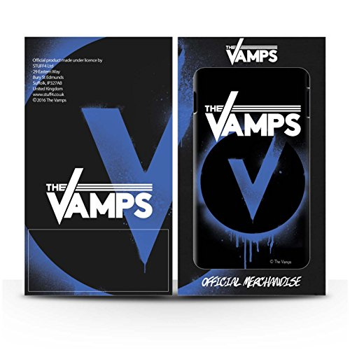 Officiel The Vamps Coque / Clipser Brillant Etui pour Apple iPhone SE / Pack 6pcs Design / The Vamps Graffiti Logo Groupe Collection Bleu V