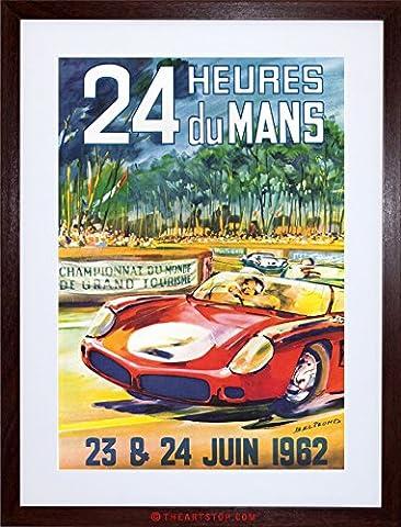 AD RACE CAR RACING AUTOMOBILE CLASSIC 24 HEURES DU MANS FRAMED PRINT F12X2409