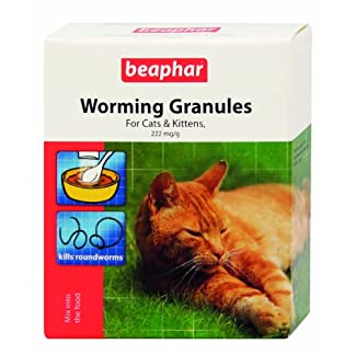 Beaphar Worming Granules for Cats 4 x 1 g (Pack of 2, Total 8 Packets) 10