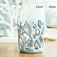 MEILING Resina Coral Crafts decorativa del salone Coppe Candle display ( colore : Blu )