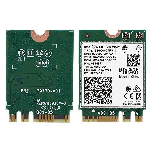 Richer-R 9260NGW Wifi Karte, 2.4G/5G Dual-Band Wireless Wifi Karte,WLAN Adapter 1,73 Gbps Bluetooth 5.0 Netzwerkkarte für Linux/Chrome / Windows10 mit NGFF M.2 -