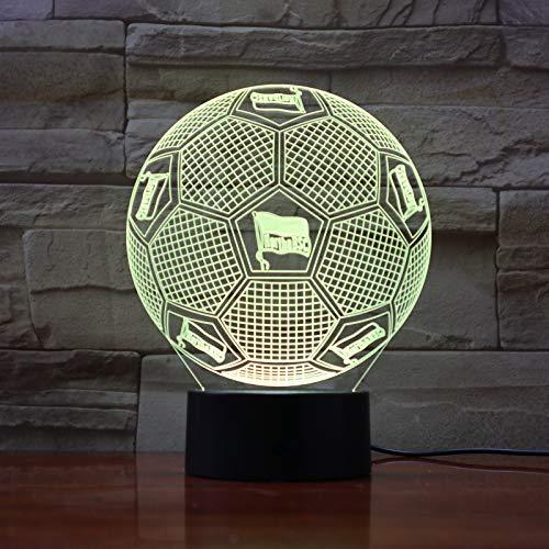 Fußballmannschaft FC Hertha Berlin 3D Illusion LED Nachtlicht Jungen Kinder Baby Geschenke Bundesliga Fußball Tischlampe Nachttischdekoration