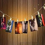 LED Foto Clips Lichter, kingcoo Akku funktioniert Girlanden 20LED Peg Anzeige Fotos Fairy Lights für Aufhängen Pictures Garten Outdoor Party Weihnachtsdekoration
