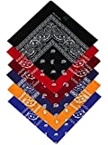 Harrys-Collection Bandana Bindetuch 100% Baumwolle (1 er 6 er oder 12 er Pack), Farbe:Sortiment 2