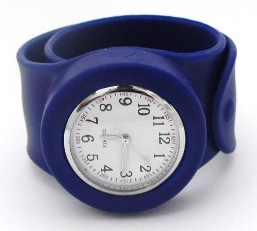 snap-slap-on-silicone-watch-fully-numbered-matte-face-dark-blue-strap-with-white-face