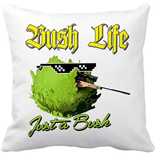 Diver Bebé Cojín con Relleno Bush Life Just A Bush - Blanco, 35 x 35