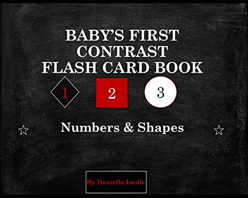 Baby's First Contrast Flash Card Book Shapes and Numbers (Smart Baby Flash Card Book Series 1) (English Edition)