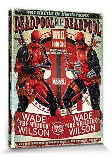 1art1® Deadpool - Wade Vs Wade Cuadro