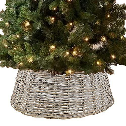 Color Blanco WeRChristmas Falda para /árbol de Navidad 19 cm
