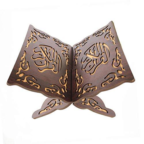 iShine Kuran Ständer Koran Bücherregal aus Holz Heilige Buch Ständer Eid al-Fitr für islamische Muslim-24.5cmx33cm