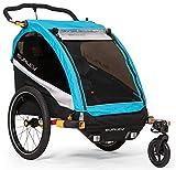 Burley D'Lite X 2019 gefederter Kinderanhänger für zwei Kinder mit individuell verstellbaren Sitzen extra leicht