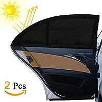 Parasol de Coche , otumixx 2 Pack Visera para Ventana lateral de Coche Reduce Calor Aislado y la Radiación UVA, Fácil Instalación para niños Bebé Mascotas, Compatible con la mayoría de coches 126x52cm
