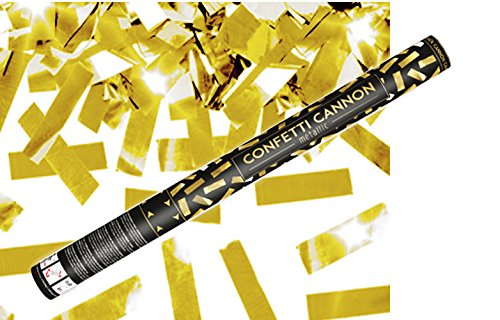 Konfetti Shooter 10 Stück Party Popper Gold Folien Konfetti Kanone XXL 60 cm ! Hochzeit Event - von Haus der Herzen ®