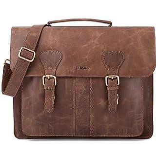 LEABAGS Scottdale maletín de auténtico Cuero búfalo en el Estilo Vintage