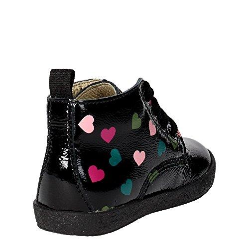 Falcotto 1346 VELOUR/LOVE Chaussures À Lacets Fille Noir