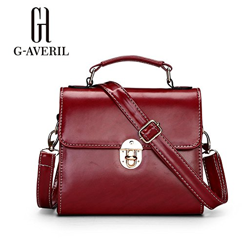 G-AVERIL, Borsa a mano uomo Nero Black Wine red