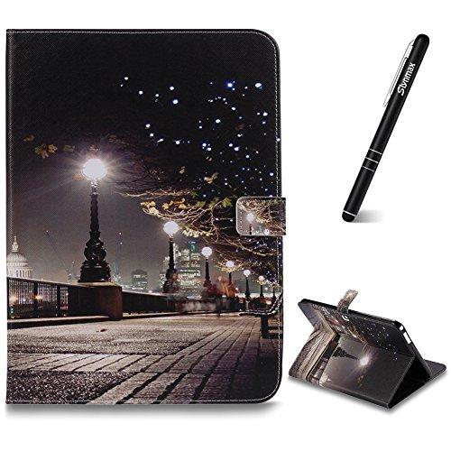 Slynmax Hülle für Galaxy Tab 4 10.1(T530), Auto Wake/Sleep Schutzhülle Tasche Brieftasche Ledertasche Flip Case Magnetverschluss Stand Kompatibel mit Samsung Galaxy Tab 4 10.1(T530) Tablet,Stadtbild