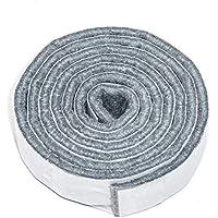 Adsamm® - 3 nastri in feltro autoadesivi da ritagliare, 19 x 1000 mm, grigio, rettangolari, 3,5 mm di spessore, nastro in feltro da tagliare autoadesivo di alta qualità