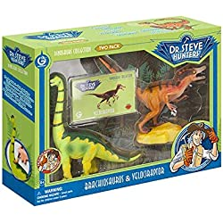 Geoworld Velociraptor y Brachiosaurus, fguras (DeQUBE Trading S.L. CL1544K)