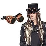 Steampunk Brille Gothic Fliegerbrille Retro Flieger Faschingsbrille Viktorianische Schutzbrille Vintage Victorian Goggles Historische Sonnenbrille Karnevalskostüme Accessoires
